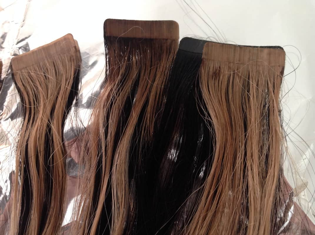 How To Dye Human Tape Hair Extensions At Home Wear Hair Extensions
